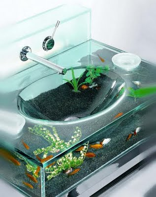 Fab Modern Aqua Bathroom Sink