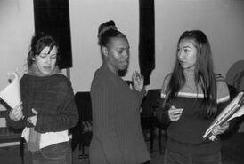Rehearsal Stephanie Kane Lateefah Devoe Penny Wei