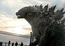 Godzilla in bay