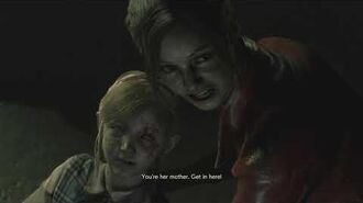 Resident Evil 2 remake all scenes - Claire helps Sherry