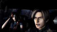 Leon and claire after crash