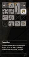 RESIDENT EVIL 7 biohazard Assault Coin inventory