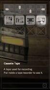 RESIDENT EVIL 7 biohazard Cassette Tape inventory