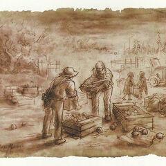 Концепт-арт. Дон Диего в шляпе и подтяжках