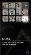 RESIDENT EVIL 7 biohazard Burner Grip inventory
