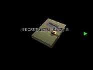 RE2 Secretary's diary B 01