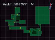 Resident Evil 3 Dead Factory 1F Map