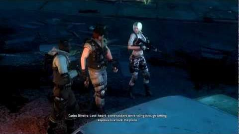 Resident Evil Operation Raccoon City all cutscenes - Saving Carlos (Shona and Party Girl)