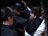 Butler teaching Rodriguez on set