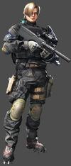 Leon in umbrella corps