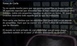 Notas de Carla