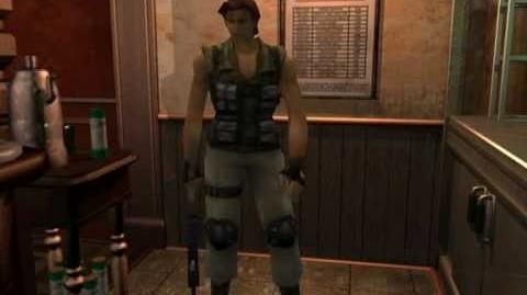 Resident Evil 3 Nemesis cutscenes - Meeting Carlos (Hide inside the kitchen)