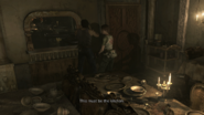 Resident Evil 0 HD - Cafeteria kitchen examine 2