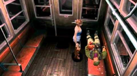 Resident Evil 3 Nemesis cutscenes - Meeting Mikhail (alternate)
