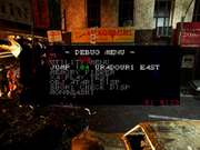 RE2B2 Debug menu