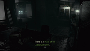 RE1 remake map of the LABORATORY location