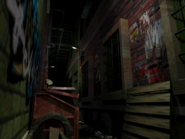 Resident Evil 3 background - Uptown - street along apartment building m - R10D09