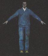 Degeneration Zombie body model 34