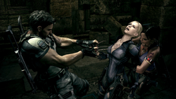 Chris e Sheva libertam Jill do controle de Wesker
