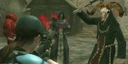 Jill shooting Zealots in the Village