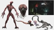 RE2 remake CONCEPT ART - Licker