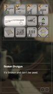 RESIDENT EVIL 7 biohazard Broken Shotgun inventory