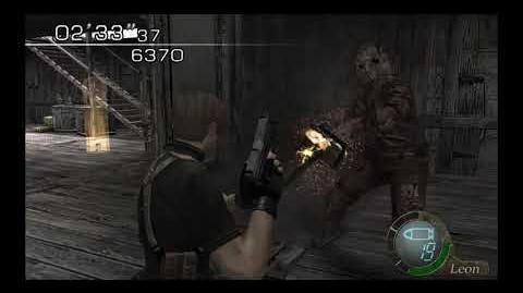 Resident Evil 4 Biohazard 4 Chainsaw Death Comparison (Japanese Censorship)