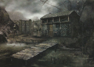 Resident Evil 4 concept art - Lake Hut