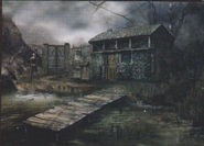 Resident Evil 4 concept art - Lake Hut