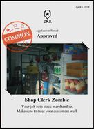 Zombieswanted shop clerk zombie