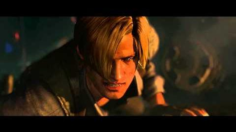 Resident Evil 6 all cutscenes - Zombie Wasteland (Leon's version)