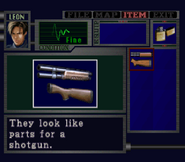 RE2 Shotgun Parts english examination