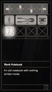 Resident Evil 7 Teaser Beginning Hour notebook inventory