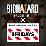 Biohazard 7 X TGI Fridays logo