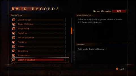 RE Rev 2 - All 93 Raid Records