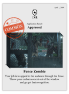 Zombieswanted fence azombie