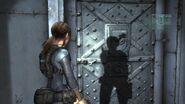 Locked door crew area