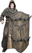 Los Illuminados Monk (w hooded head and shield weapon)