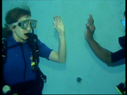 Making of Resident Evil - Anna Bolt in water 2