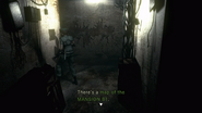 RE1 remake map of the MANSION B1 location