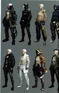 RE6 Jake rejected costumes concept art