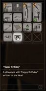 RESIDENT EVIL 7 biohazard Happy Birthday inventory