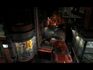 Resident Evil 3 Nemesis screenshot - Uptown - Street along apartment building - Jill Valentine scene 01