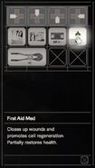 RESIDENT EVIL 7 biohazard First Aid Med inventory
