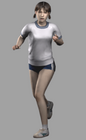 Resident evil outbreak yoko suzuki 3d ingame model alternate costume (2)