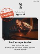 Zombieswanted bus passenger