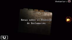 Notas sobre el Proyecto de Reclamación