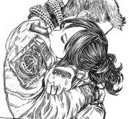 Piers and Merah hug
