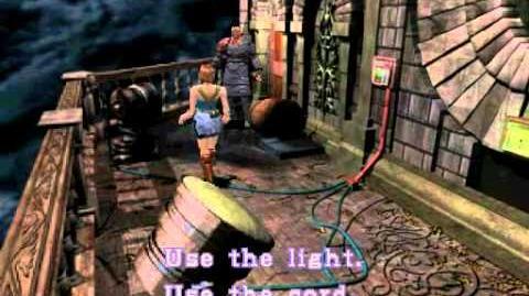 Resident Evil 3 Nemesis cutscenes - Nemesis on the balcony (Use the cord)