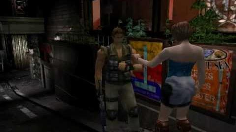 Resident Evil 3 Nemesis cutscenes - Exiting with Carlos (Main entrance alternate)